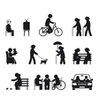 Elderly leisure activities vector image