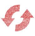 exchange arrows fabric textured icon vector image vector image