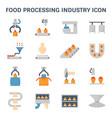 food processing icon vector image vector image