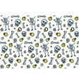 funny pattern with skeletons bones and treasure vector image vector image