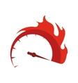 Gauge transportation kilometer speed icon vector image