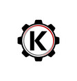 gear solution logo letter k vector image vector image