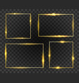 golden glow frames set vector image