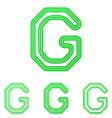 Green line g logo design set vector image vector image