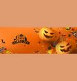 happy halloween festive background vector image vector image