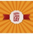 Happy Labor Day Holiday realistic Banner Template vector image