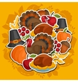 happy thanksgiving day background design vector image vector image