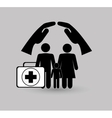 health insurance related icons image vector image