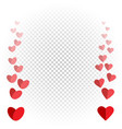 hearts like flies up and disappears vector image vector image