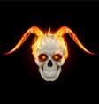 Horny devil vector image vector image