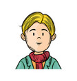 isolated upperbody young man vector image vector image
