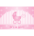 its a girl background vector image vector image