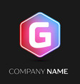 letter g logo symbol in colorful hexagonal vector image vector image