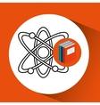 library books school molecule atom vector image vector image