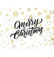 merry christmas golden and silver snowflakes vector image vector image