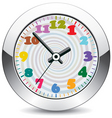 metal clock vector image
