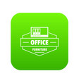 modern office icon green vector image vector image