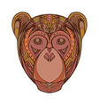 monkey decorated tribal pattern for your creativit vector image vector image