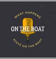 nautical style vintage wanderlust print design vector image vector image
