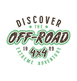 Off road racing emblem in retro style vector image vector image