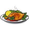 roasted chicken leg vector image