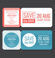 save the date minimalist invitation ticket vector image vector image