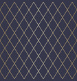 seamless dark blue and gold geometric pattern vector image vector image