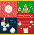 set different colored cards vector image vector image