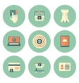 Set of Circle Security Icons vector image vector image