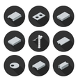 set of flat icons slab vector image vector image