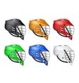 Set of Lacrosse Helmets vector image vector image