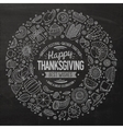 Set of Thanksgiving cartoon doodle objects vector image
