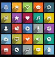 set universal flat icons for web internet vector image vector image