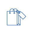shopping package line icon concept shopping vector image vector image