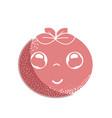 silhouette kawaii nice happy tomato vegetable vector image vector image