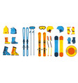 ski gear and equipment illustration hats vector image vector image