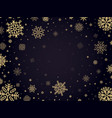 snow frost backdrop snowflakes winter frame xmas vector image vector image