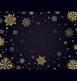 snow frost backdrop snowflakes winter frame xmas vector image