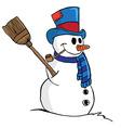 snowman 1 vector image vector image
