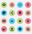 social icons set with people location vector image vector image