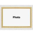 Standing wooden blank clean frame for family photo vector image vector image