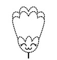 sticker flower kawaii cartoon decoration vector image vector image