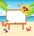 Summer Billboard vector image vector image