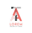 ta modern logo design with gray and pink color vector image vector image