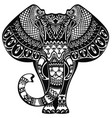 tattoo elephant vector image