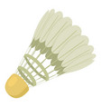 tennis shuttlecock icon cartoon style vector image