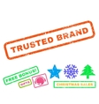 Trusted Brand Rubber Stamp vector image vector image