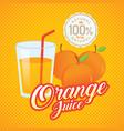 vintage fresh orange juice vector image vector image