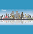 welcome to france skyline with gray buildings vector image vector image