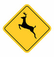 wild animals traffic sign vector image vector image